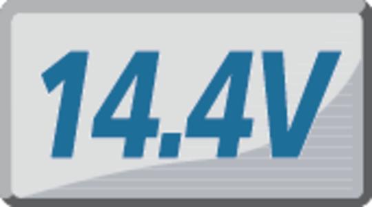 Spriegums 14.4V