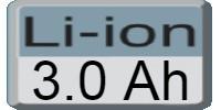 Akumulators 3.0Ah Li-Ion