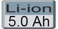 Akumulators 5.0Ah Li-Ion